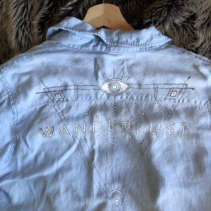 Wanderlust Denim Buttonup